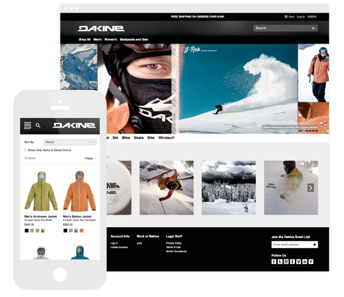 The Dakine website